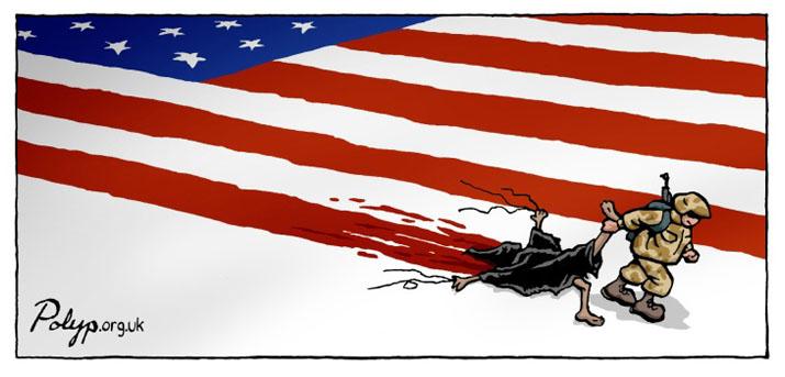 Amerikan Bayrağı karikatür